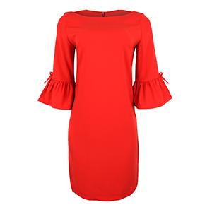 Red Semi-Sheath Dress