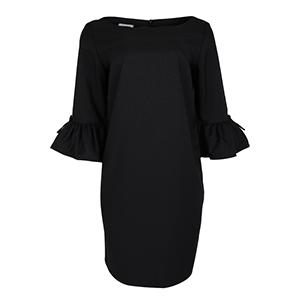 HaloGlow Black Semi-Sheath Dress