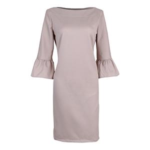 HaloGlow Beige Semi-Sheath Dress