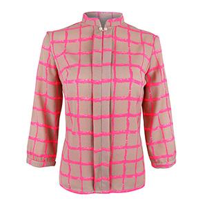 HaloGlow Pink Squares Blouse