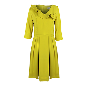 Mustard fit and flare dress