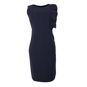 HaloGlow Side Ruffle Dress