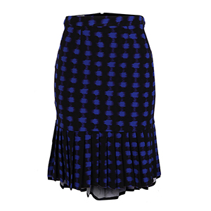 Abstract Print Skater Skirt
