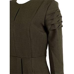 Forest Green Keyhole Dress