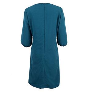green side collar dress back