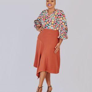 HaloGlow Asymmetric Hem Skirt