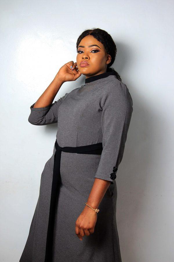 HaloGlow Grey and Black dress