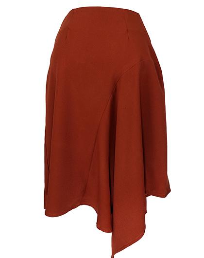 HaloGlow Asymmetric Hemline Skirt
