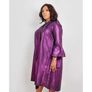 HaloGlow Violet Dress